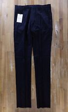 PAUL SMITH pants formal slim-fit navy blue flannel wool trousers Size 30 NWT