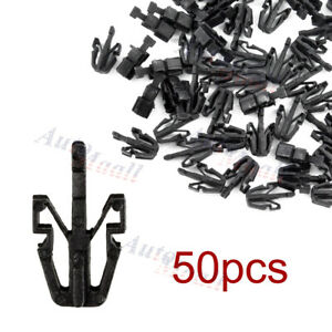 50pcs Grille Retainer Clip Black Plastic For Chevy Colorado GMC Canyon 2004-2012