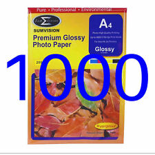 1000 Sheets Pack Sumvision 200gsm A4 Inkjet Photo paper White Glossy Surface