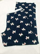Womens Tommy Hilfiger Scottie Dog Terrier Pajama Lounge Pants M New