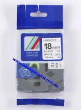 Laminated Brother P-Touch TZ (TZ2)-241compatible18mmx8mm Black-On-White Tape