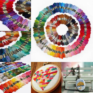 50 Multi Colors Cross Stitch Cotton Sewing Skeins Embroidery Thread Floss Kit-UK