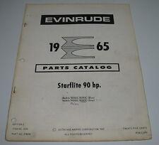 Parts Catalog Evinrude Ersatzteilkatalog Starflite 90 HP Außenborder Stand 1965