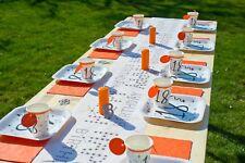 TischBox 18. Geburtstag Orange / 55 teilig / Geburtstagsset / Geburtstagsdeko