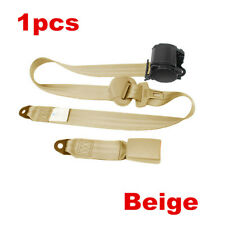 1x Car Seat Belt Lap 3 Point Safety Travel Adjustable Retractable Auto Universal