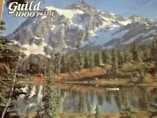 Vtg Guild Majestic Masterpiece Grand Tetons WY 1000 Pc Puzzle  Mountains Lake