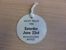 23/06/1990 Ascot Races - Horse Racing Badge Box Holders (folded)
