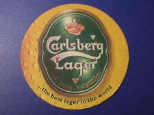 Beer COASTER Bar Mat: CARLSBERG Danish Brewery Lager, Copenhagen, DENMARK