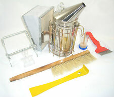 Beekeeping Stainless Steel  Bee Smoker and Starter Tool Kit