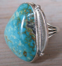 Navajo Sterling Silver Turquoise Ring by Oscar Alexius