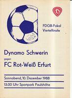 FDGB-Pokal 88/89 Dynamo Schwerin - FC Rot-Weiß Erfurt, 10.12.1988