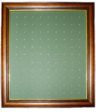Golf Ball Marker Display Frame - For 99 Stem / Peg Markers - Mid Brown - Wall