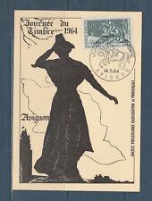 carte  1er jour  journée du timbre   84 Avignon   1964