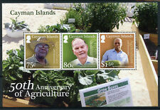 Cayman Islands 2017 MNH Agriculture 50th Anniv 3v M/S Farmers Plants Stamps