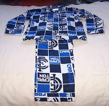 Carlton Blues AFL Boys Blue White Squares Flannel Pyjama Set Size 10 New
