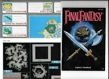 New listing Vtg Nes Final Fantasy Instruction Manual Dungeon And World Maps Handbook No Game