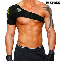 Black Shoulder Brace Support Strap Wrap Belt Dislocation Neoprene Pain Relief UD