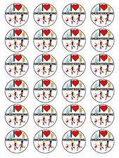 "X24 1.5"" I Love Orientación Brújula Mapa de navegación Cupcake Topper En Papel De Arroz"