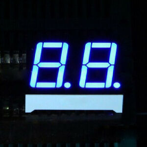 """Blue 0.2/"""" 2 Digit 7-Segment LED Display SMD Surface Mount common anode"""