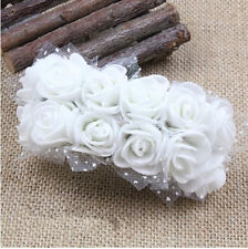 144pcs/lot  2cm Peach Mini Artificial Foam Roses for Corsages Wedding Favours