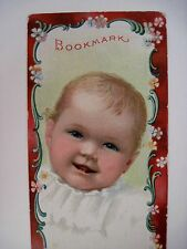"Vintage Victorian Ad Bookmark - ""Hallet & Davis Piano Co."" w/ Picture of Baby *"