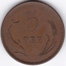 1906 Danimarca 5 ore *** Bronzo da Collezione *** ***