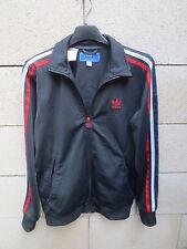 Veste ADIDAS rétro vintage tracktop jacket sport Tréfoil gris tricolore 164 S