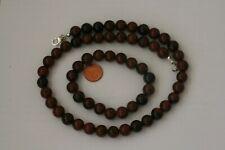 Mahagoni Obsidian-Kette + Bracelet (Ball, 10 mm ) M-0508/M