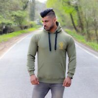 Brand New Mens Pullover Jumper With Hoody Thick Cotton Fleece Baggy Sizes Khaki