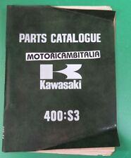 KAWASAKI 400 S3 MACH CATALOGO MANUALE RICAMBI PARTS LIST CATALOG MANUAL BOOK