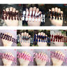 24Pcs Fashion False  Nails Acrylic Gel Full French Fake Nails Art Tips ToTR