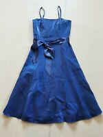Debut Women's Dark Blue Fit Flare Thin Strap Dress Size 8