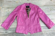 Kello Scandinavia Fushia Pink Faux Leather Jacket Womans Size 6-Salesman Sample