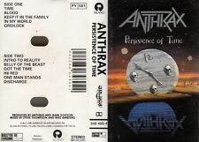 "K 7 AUDIO (TAPE)  ANTHRAX ""PERSISTENCE ON TIME"""