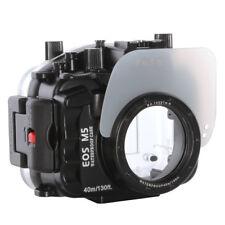 40 M 130 FT (ca. 39.62 m) immersione subacquea impermeabile Custodia Borsa per fotocamera Canon EOS M5