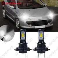 Für PEUGEOT 307 CC 2X H7 Abblendlicht LED Car Scheinwerfer Birnen Lampen Weiß