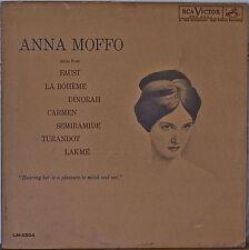 """ANNA MOFFO: Arias from Faust/La Boheme/dinorah++++ 1961LP RCA """"SHADED NIPPER"""""""