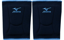1 Pr Mizuno Lr6 Highlighter Navy/Columbia Blue Adult Medium Volleyball Knee Pads