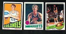1972 1977 1979 Topps BASKETBALL Set DAN ISSEL Card Lot