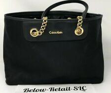 a5c07f6ea1b Calvin Klein Nylon Black & Gold Tote H7AAE6WZ MSRP $170 New w/tags & Ships