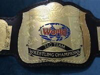 WWF World TAG TEAM Wrestling Championship Belt.Adult Size.dual plated
