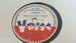 WOODY HERMAN AND HIS ORCHESTRA GOLDEN WEDDING & CALDONIA VDISC 458