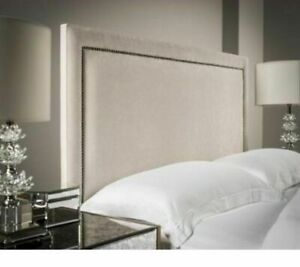 """54"""" inch Tall Floor Standing Pin / Stud Design Headboard in Chenille All Sizes"""