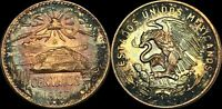 """1967 MEXICO 20 CENTAVOS """"CENTS"""" HIGH QUALITY COLOR TONED COIN"""