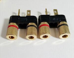 2 Pioneer Speaker Banana Jack Plug Connectors SX-626 727 820 828 990 6000 1 Pair