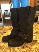 Fiorentini + Baker Made In Italy Suede Leather Boots Brown Riding 37 EUC
