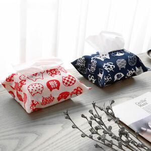 Cotton Tissue Box Cover Home Hotel Holder Tools Desktop Paper Storage Racks Y1