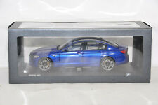 BMW 5er M5 F90 LIMOUSINE MARINA BAY BLUE 1:18 NOREV DEALER VERY RARE