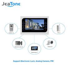"Intercom System 10"" LCD Video Door Phone Touch Key Panel IR Home Video Doorbell"