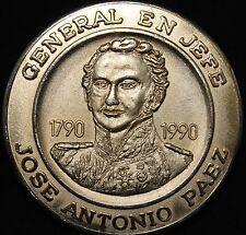 VENEZUELA BICENTENARIO DEL NACIMIENTO DE JOSE ANTONIO PAEZ 1990 W. ORIGINAL CASE